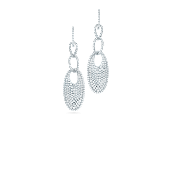 18Kt Gold Drop Earrings With Diamonds