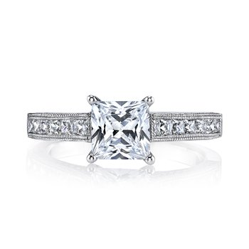 25470 Diamond Engagement Ring 0.18 ct rd 0.51 ct pr