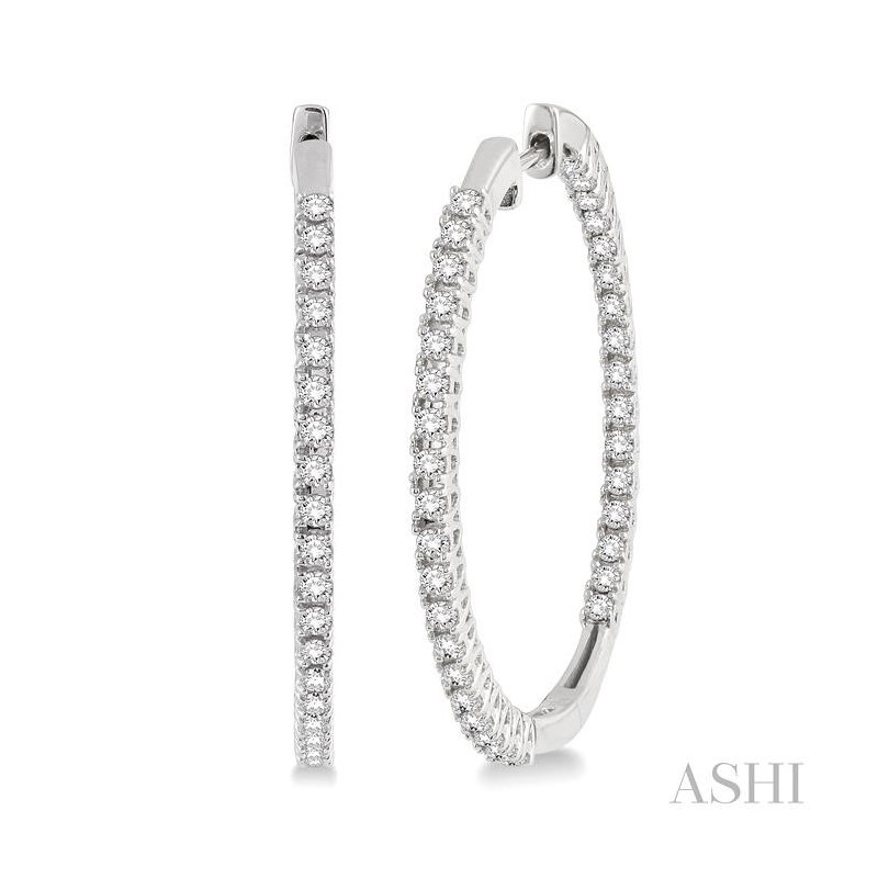 Barclay's Signature Collection diamond hoop earrings