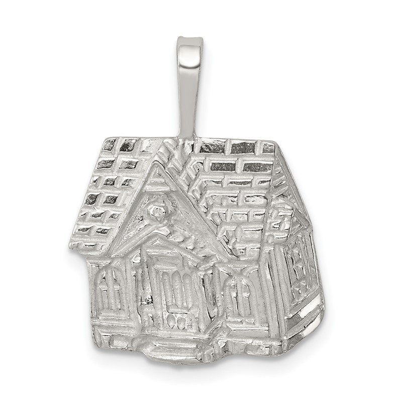 Quality Gold Sterling Silver House Charm