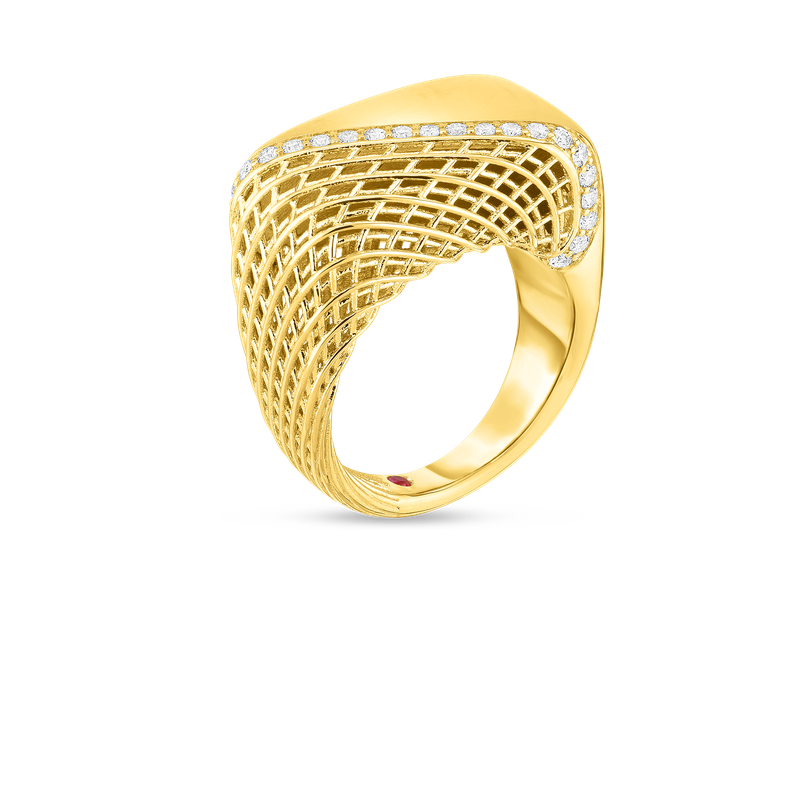 Roberto Coin 18Kt Gold Ring With Diamonds