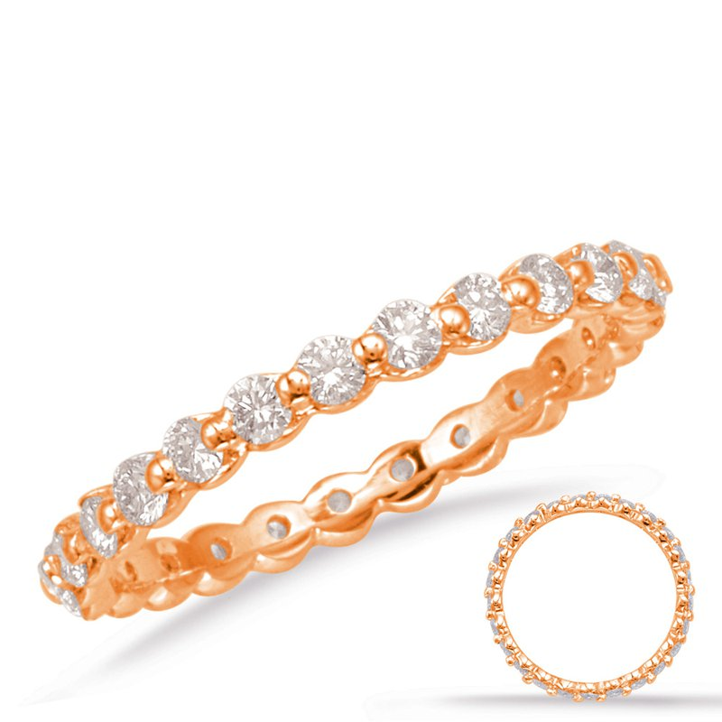 S. Kashi  & Sons Rose Gold Eternity Band