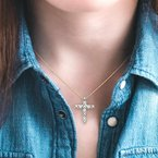 Barclay's Signature Collection diamond cross pendant