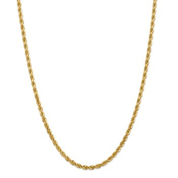 Leslie's 14K 4mm Diamond-Cut Rope Chain