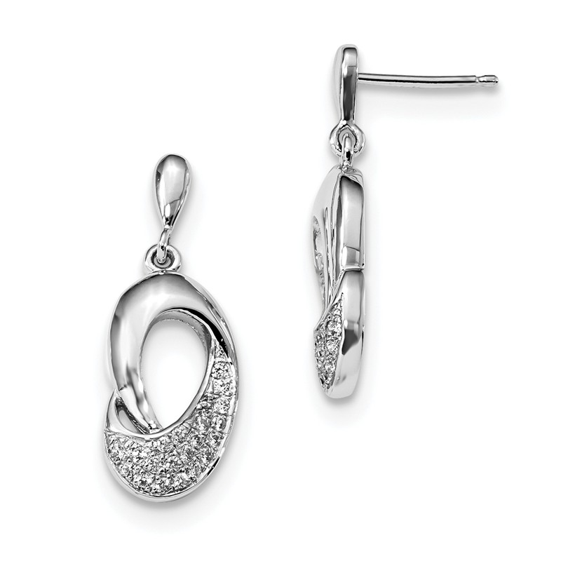 Sterling Silver and CZ Brilliant Embers Earrings One Size