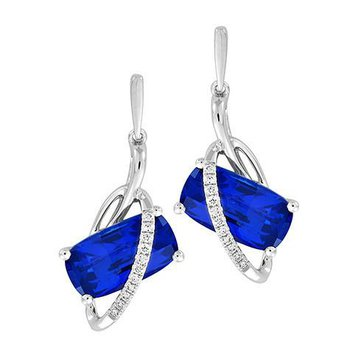 Blue Sapphire Earrings-CE4262WBS