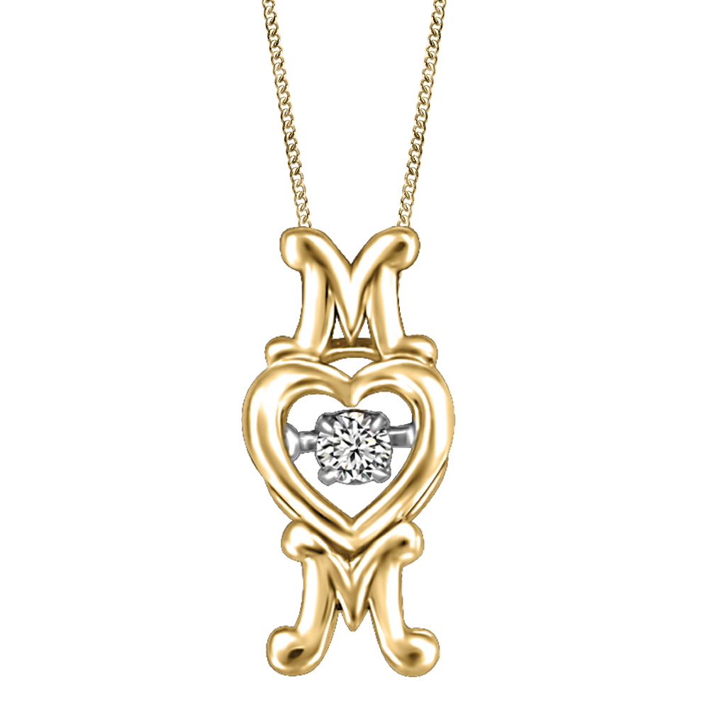 Ice on Fire Jewelry 10k Yellow Gold Dancer Pendant