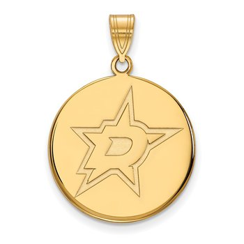 Gold Dallas Stars NHL Pendant
