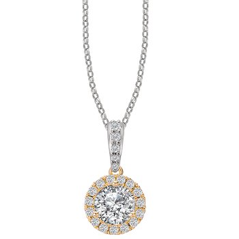 Ladies Diamond Halo Necklace