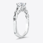 Valina Diamond Engagement Ring With Side Stones in 14K White Gold (0.11 ct. tw.)