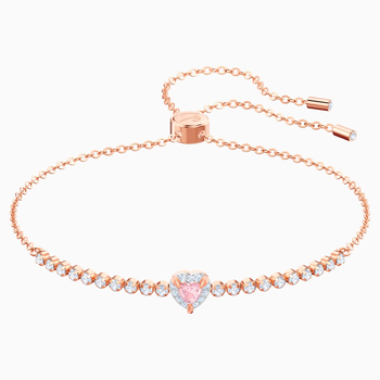 One Bracelet, Multi-colored, Rose-gold tone plated