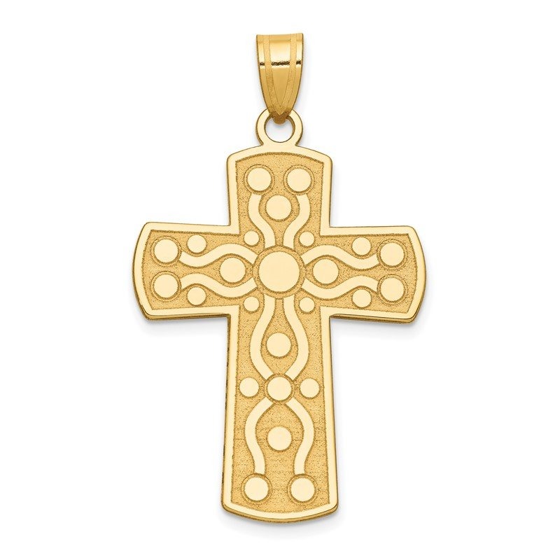 Quality Gold 14k Cross Pendant w/Serenity Prayer on Back