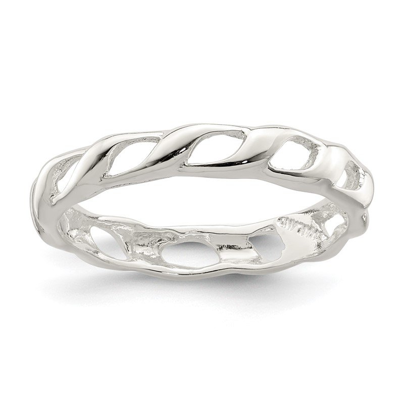 Quality Gold Sterling Silver Polished Twist Ring