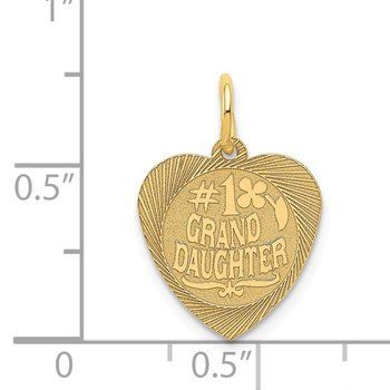 14k #1 GRANDDAUGHTER Charm