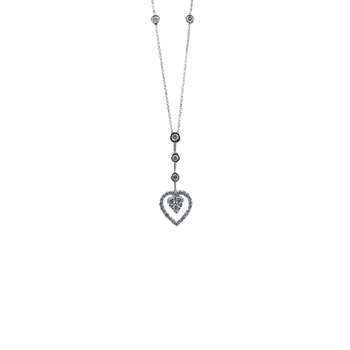 18Kt Diamond Heart Drop Necklace