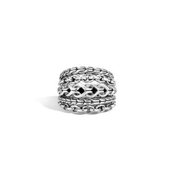 Asli Classic Chain Link Ring in Silver