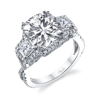 14K W RING 156RD 0.69CT / 2PC 0.59CT