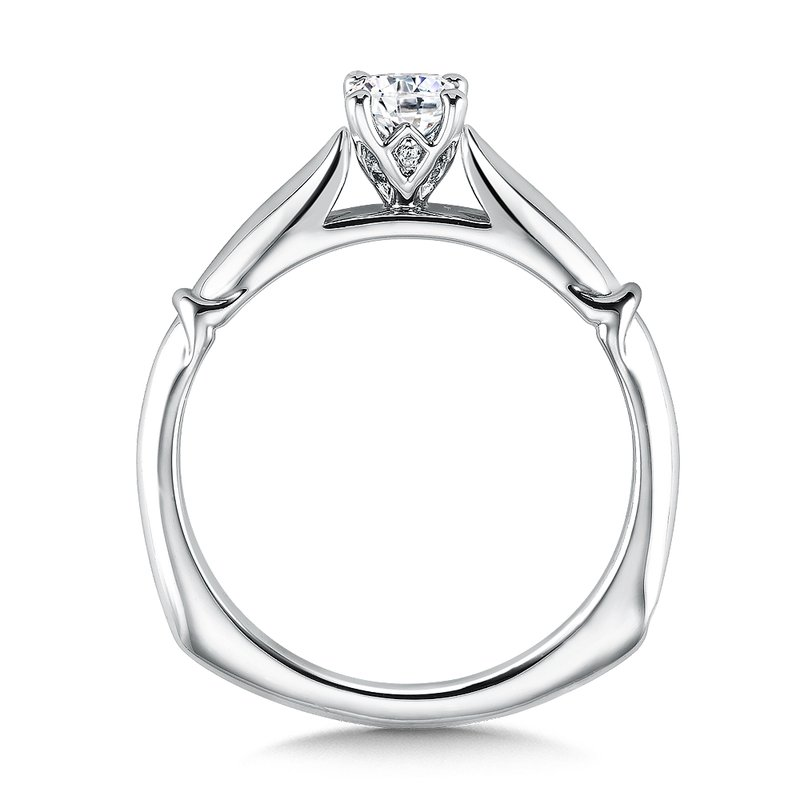 Valina Solitaire mounting .03 tw., 1/3 ct. round center.