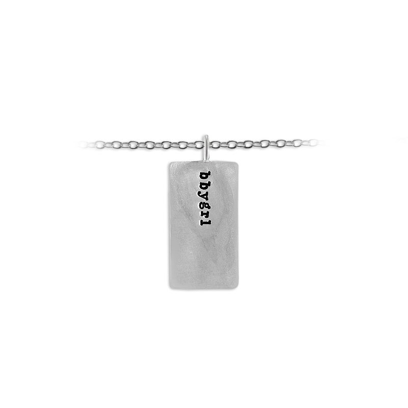 Slate & Tell 30mm X 16.3mm Rectangular Charm