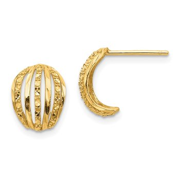14K Textured Post Earrings