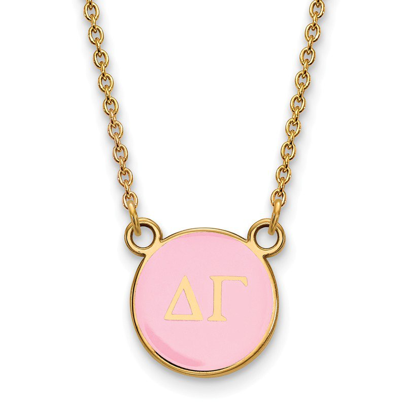 bc54039d31340 Crews Jewelry: Greek Life Gold-Plated Sterling Silver Delta Gamma ...