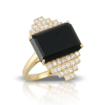 Gatsby Onyx Ring
