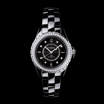 J12 Black with Diamond Bezel and Indicators