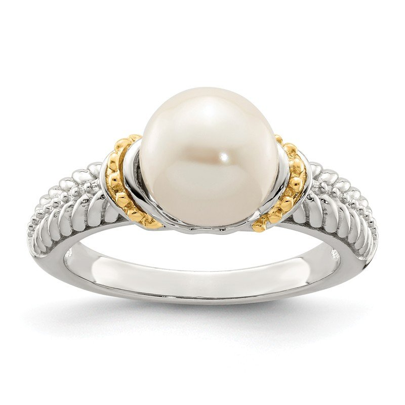 Shey Couture Sterling Silver w/ 14K Accent 8-9mm FWC Pearl Ring