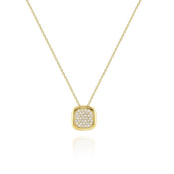 Diamond Pavé Pendant Set in 14 Kt. Gold