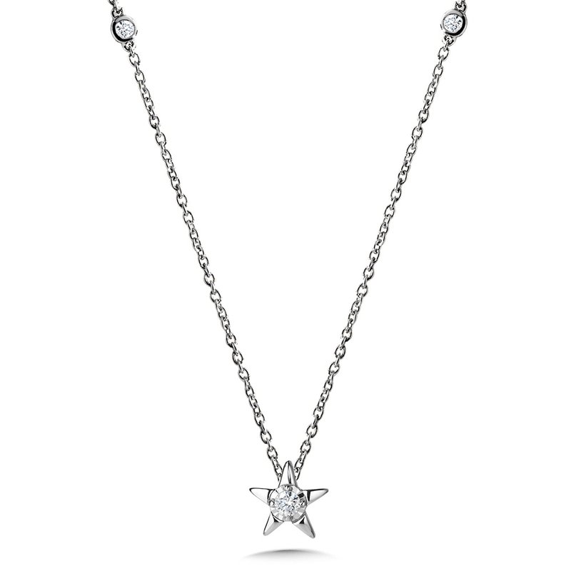SDC Creations Star-Shaped Diamond Star Necklace