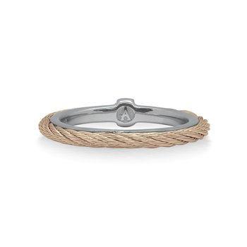 Carnation Cable Stack Ring