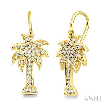 palm tree diamond earrings