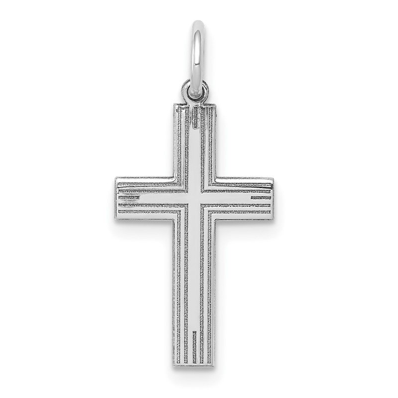 J.F. Kruse Signature Collection 14K White Gold Laser Designed Cross Pendant