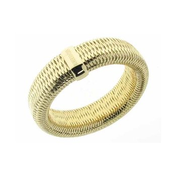#25967 Of 18K White Gold Extra Large Stretch Bangle
