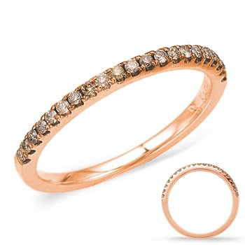 Rose Gold Champaign Diamond Band