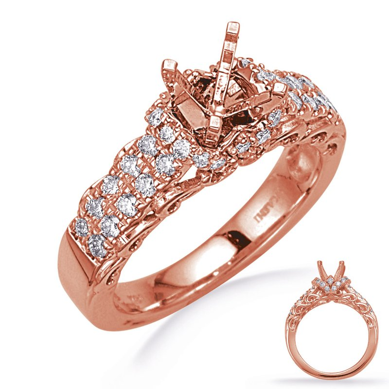 S. Kashi & Sons Bridal Rose Gold Engegement Ring