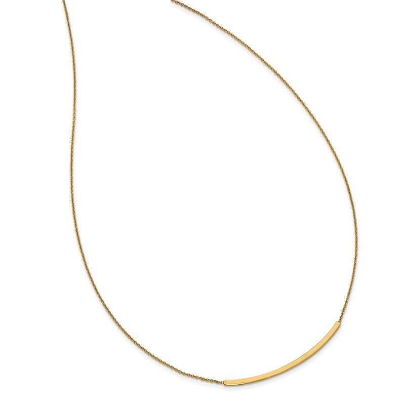 Leslie's Leslie's 14K Polished D/C with 2in ext. Bar Necklace