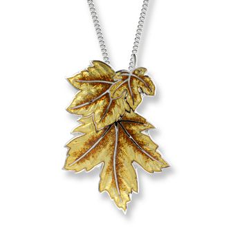 Sterling Silver Maple Leaf Necklace