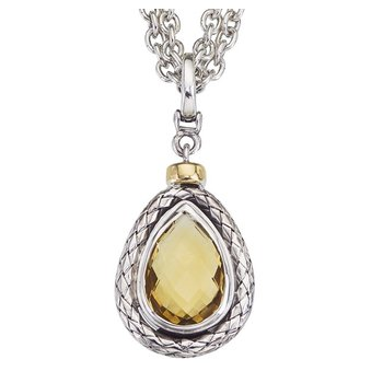 Pear Gemstone Traversa Pendant