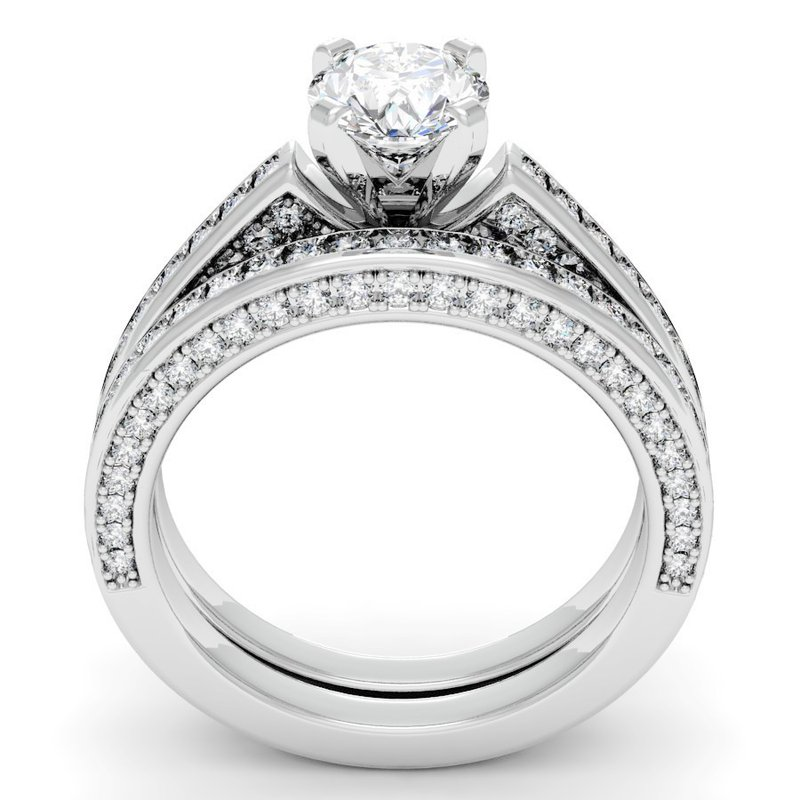 channel wedding bands baskin and braw pave channel diamond engagement ring with