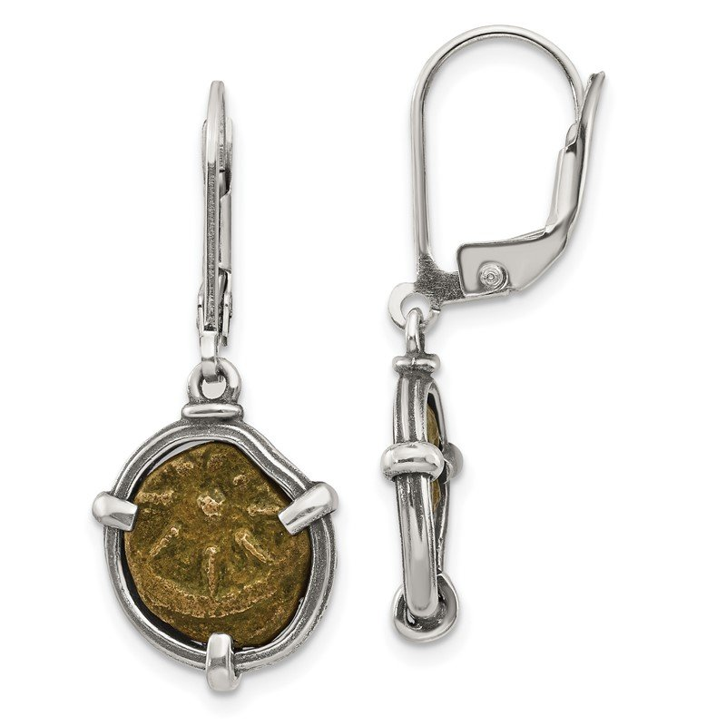 Quality Gold Sterling Silver Ancient Coins Antiqued Widow's Mite Coin Earrings