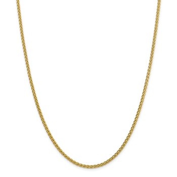 14k 2.75mm Semi-solid Wheat Chain