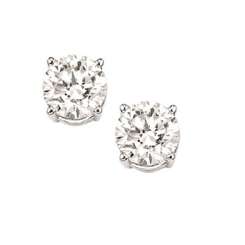 Diamond Stud Earrings in 18K White Gold (1/2 ct. tw.) I1 - G/H
