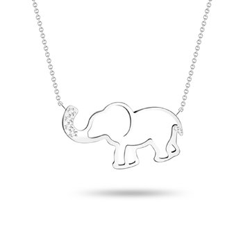 Elephant Diamond Pendant