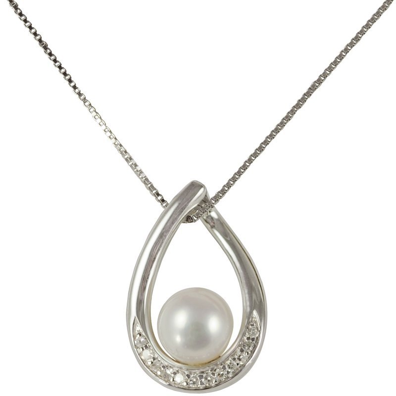 Imperial Pearl Sterling Silver Freshwater Pearl Pendant
