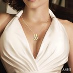 ASHI emotion diamond pendant