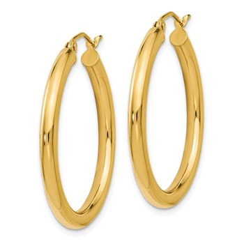 Leslie's 14K Polished 3mm Hoop Earrings
