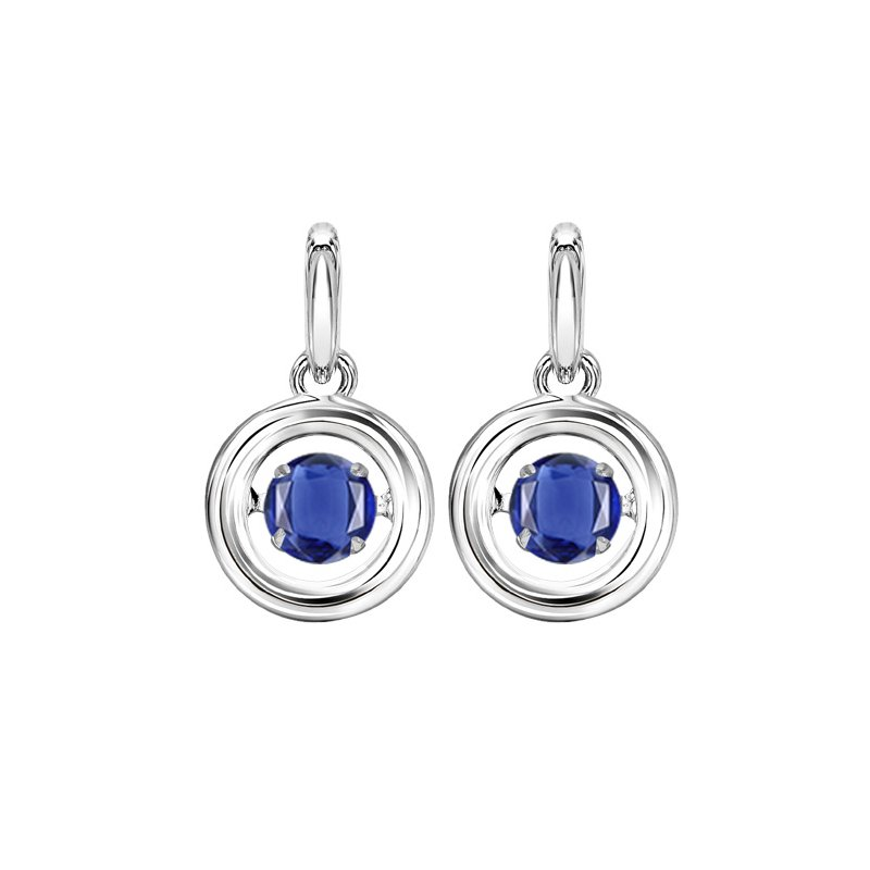 Rhythm of Love Silver Sapphire Rhythm Of Love Earrings