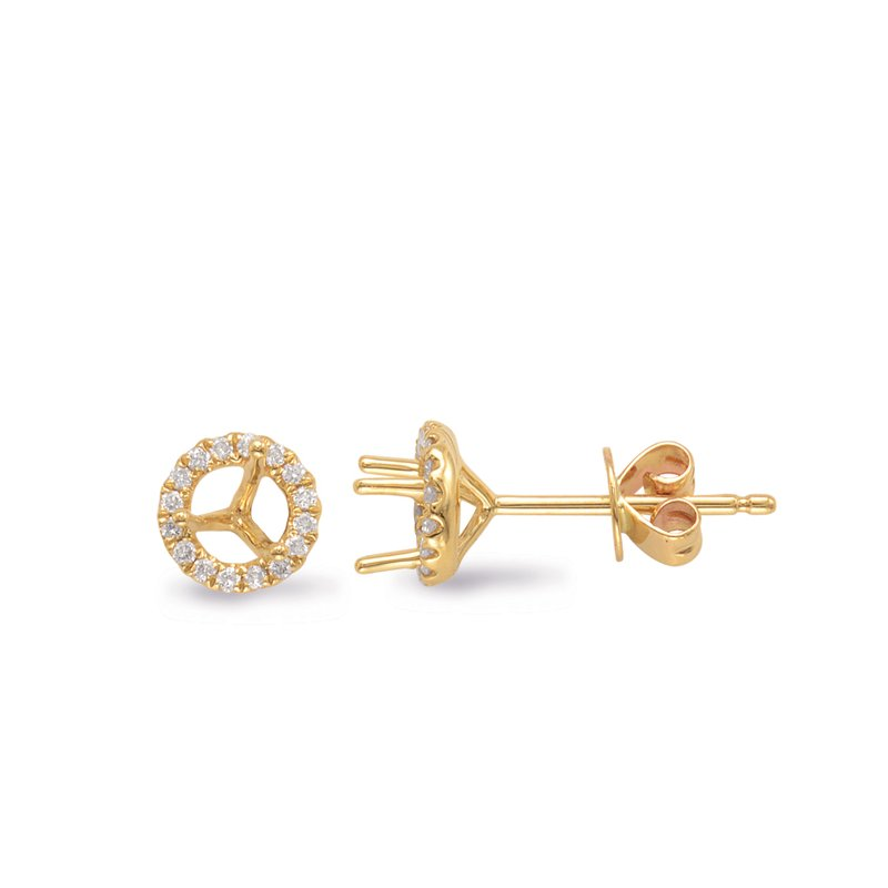 Briana Three Prong Earring Setting .50ct TW