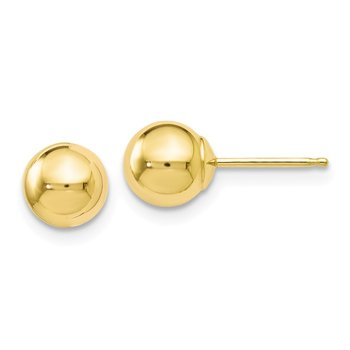 Leslie's 10k Polished Ball Post Earrings